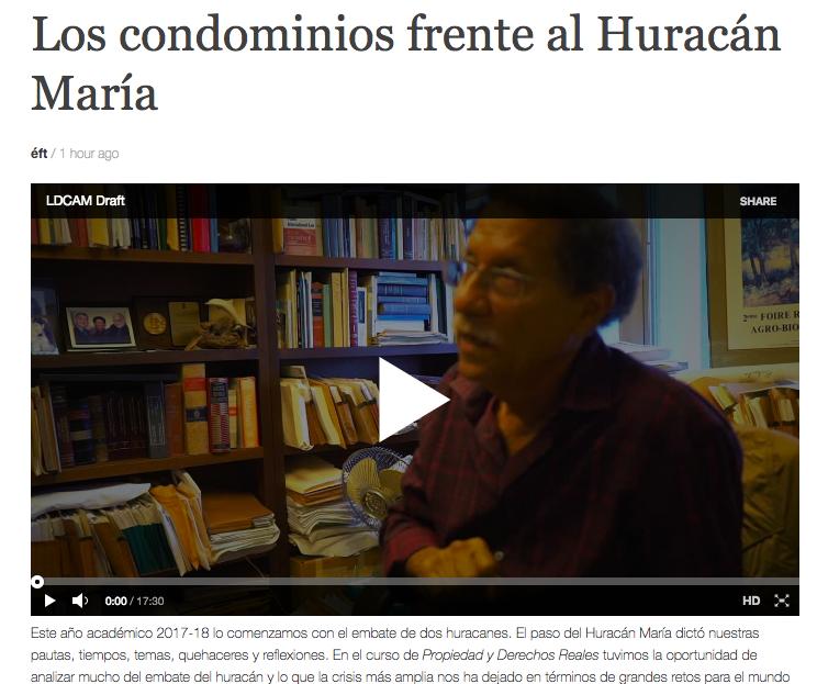 Los condominios frente al HuracánMaría