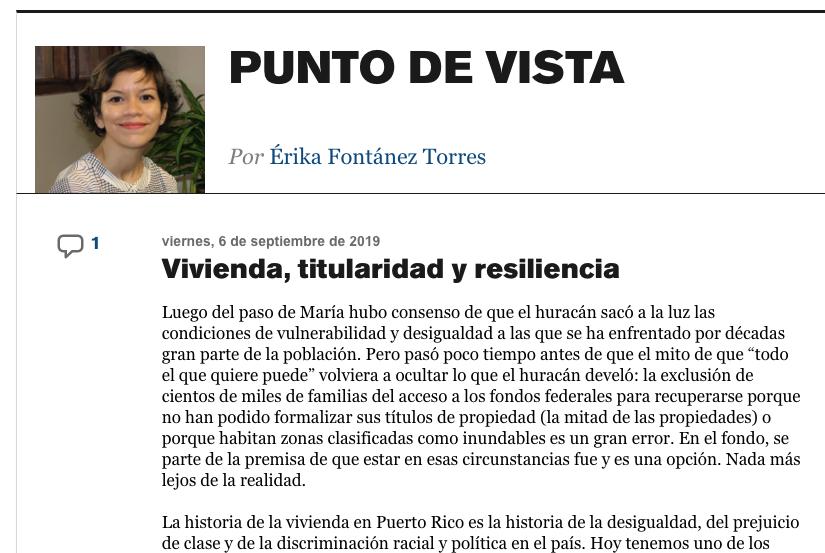 Vivienda, titularidad y resiliencia(columna)